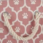 Rose Lattice Paw Polyester Rectangle Large Pet Storage Bin - 4
