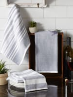 Asst Barn Red French Terry 3 Piece Dishtowel - 9