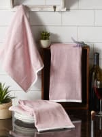 Barn Red French Terry Variegated Stripe 3 Piece Dishtowel - 7