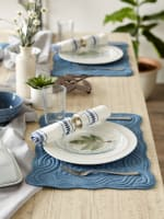French Blue Quilted Farmhouse Placemat (Set of 6) - 1