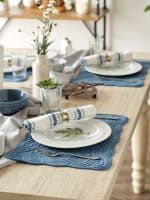 French Blue Quilted Farmhouse Placemat (Set of 6) - 3
