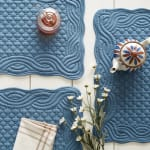 French Blue Quilted Farmhouse Placemat (Set of 6) - 4