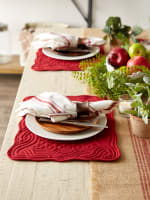 Cranberry Quilted Farmhouse Placemat (Set of 6) - 5