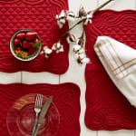 Cranberry Quilted Farmhouse Placemat (Set of 6) - 9