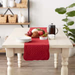 Cranberry Quilted Farmhouse Table Runner - 4