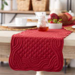 Cranberry Quilted Farmhouse Table Runner - 5