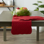 Cranberry Quilted Farmhouse Table Runner - 6