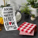 Social Distance Makes The Heart Grow Fonder 3 Piece Dishtowel - 1