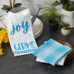 Spread Joy Not Germs 3 Piece Dishtowel - 1