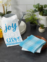 Spread Joy Not Germs 3 Piece Dishtowel - 7