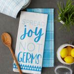Spread Joy Not Germs 3 Piece Dishtowel - 9