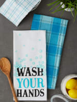 Wash Your Hands 3 Piece Dishtowel - 6