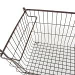 Metal Basket Bronze Rectangle Large 13x10x11 - 3