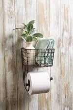 Farmhouse Toilet Paper Holder Rustic - 2