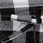 Assorted Vintage Grey Chicken Wire Black White Check Liner Basket (Set of 3) - 8