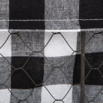 Assorted Vintage Grey Chicken Wire Black White Check Liner Basket (Set of 3) - 9