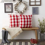 Buffalo Check Red/White Pillow Covers, Set of 2 - 1