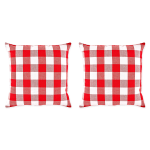 Buffalo Check Red/White Pillow Covers, Set of 2 - 3