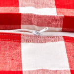 Buffalo Check Red/White Pillow Covers, Set of 2 - 4