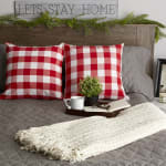 Buffalo Check Red/White Pillow Covers, Set of 2 - 5