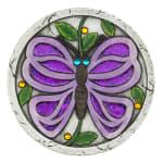 Purple Butterfly Garden Stepping Stone - 4