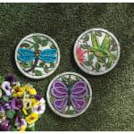 Purple Butterfly Garden Stepping Stone - 5
