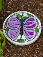 Purple Butterfly Garden Stepping Stone - 1