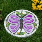 Purple Butterfly Garden Stepping Stone - 2