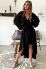 Linda V-Neck Midi Dress - 3