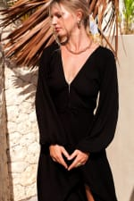 Linda V-Neck Midi Dress - Plus - 1