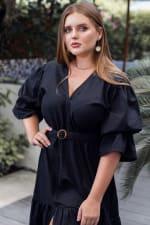 Peony V-Neck Midi Dress - Plus - 1