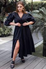 Peony V-Neck Midi Dress - Plus - 3