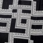 Black & White Fringe Trim Poncho - 2