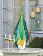 Cool Flame Art Glass Statue - 3