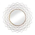 Golden Geometric Wall Mirror - 1