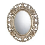 Gilded Oval Wall Mirror - 1
