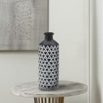 Mazara Black And White Vase - 2