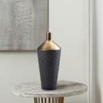 Lucca Black and Gold Porcelain Vase - 2