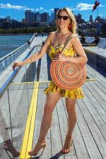 Oversized Straw Circular Woven Jute Tote - 3