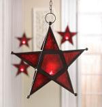 Red Glass Star Lantern - 2