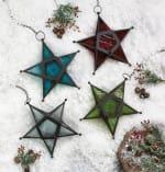 Red Glass Star Lantern - 4