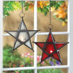 Red Glass Star Lantern - 1