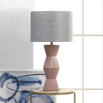 Gable Pink Ridges Table Lamp - 1