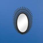 Riki Small Black Bamboo Mirror - 2