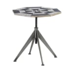 Black And White Checker Side Table - 1