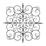 Square Fleur-De-Lis Wall Plaque - 1