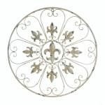 Circular Fleur-De-Lis Wall Decor - 2