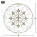 Circular Fleur-De-Lis Wall Decor - 1