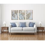 Asian Branches 3 Piece Floating Canvas Botanical Art Print - 4