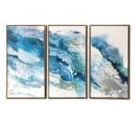 Abstract Regalite 3 Piece Floating Canvas Modern Art Print - 2